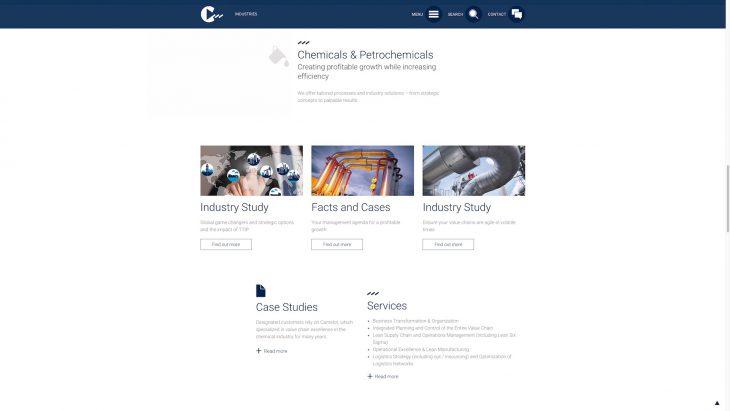 Camelot MC - Responsive Website - Industrien im Detail