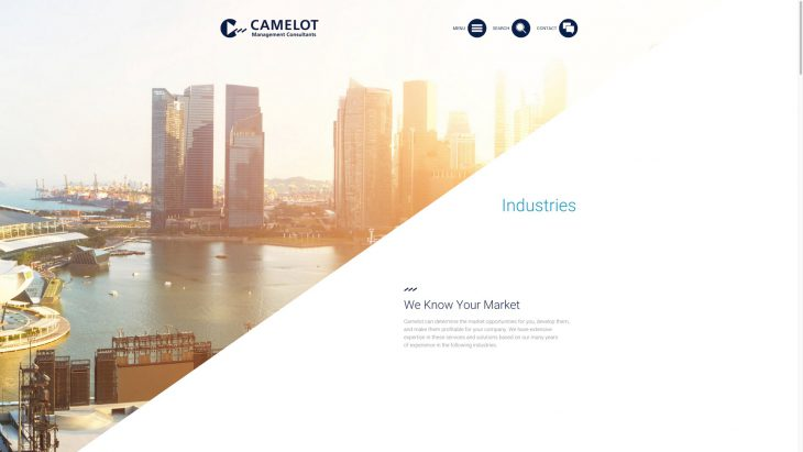 Camelot MC - Responsive Website - Industrien