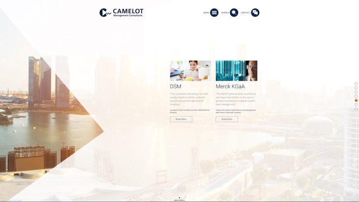 Camelot MC - Responsive Website - Fullscreen Slides Variante