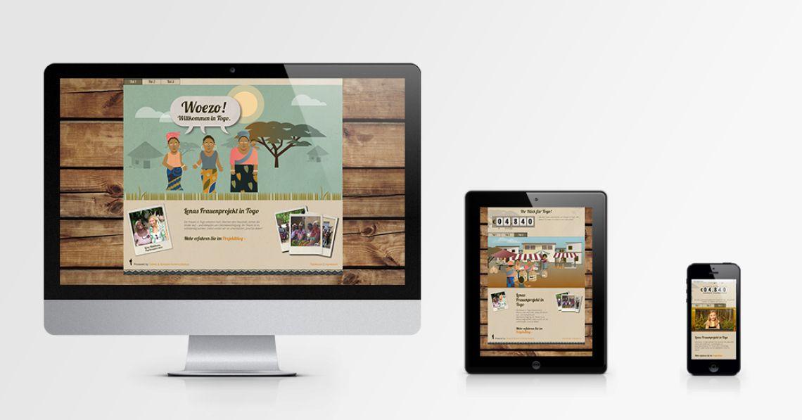 Klick-für-Togo - Scrollytelling Landingpage für eine Charity-Aktion