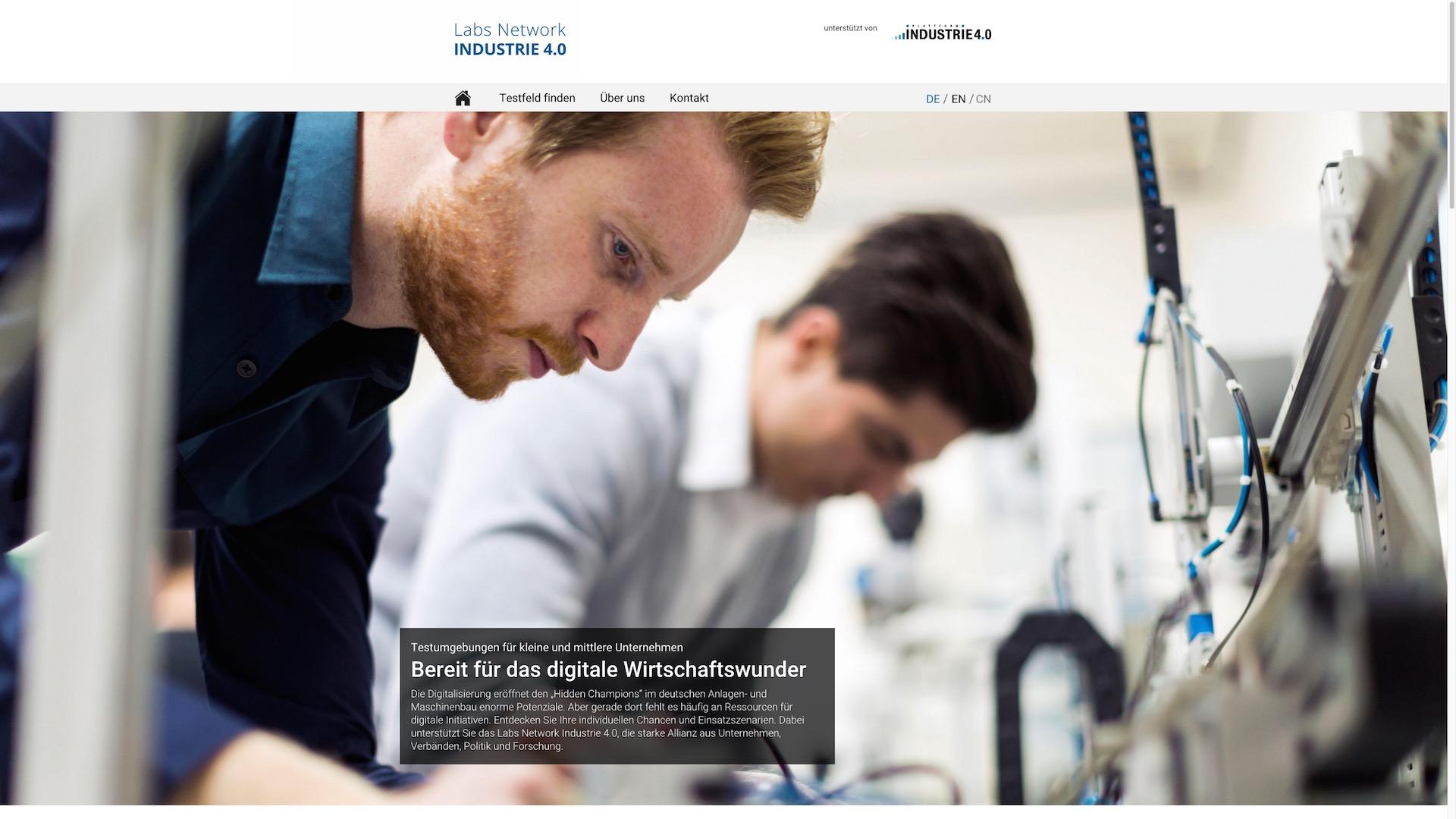 Labs Network INDUSTRIE 4.0 - Responsive Landingpage
