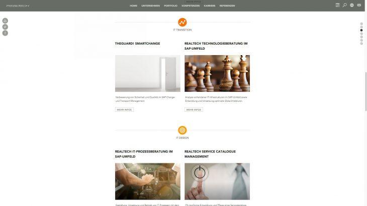 Realtech - Responsive Unternehmenswebsite - Leistungen