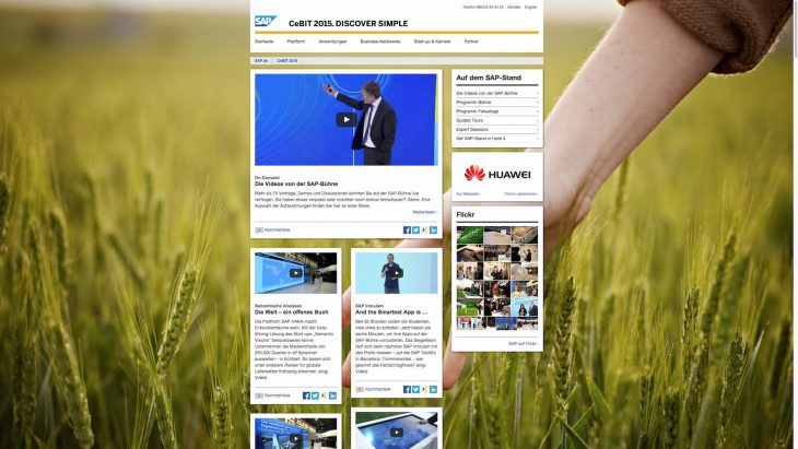 SAP CeBIT - Responsive Website - Newsportal