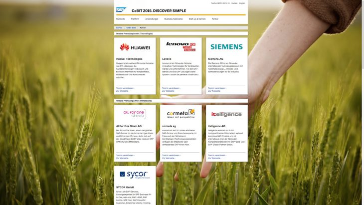 SAP CeBIT - Responsive Website - Partner