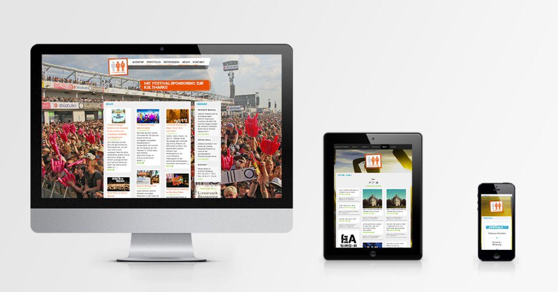 Sponsorpeople - Responsive Website für führenden Festivalvermarkter